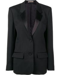 Bottega Veneta サテンラペル ジャケット - ブラック