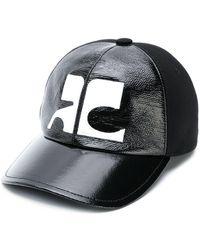 Courreges - Logo Panelled Cap - Lyst