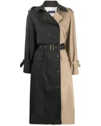 Eudon Choi Two-tone Trench Coat - Multicolor