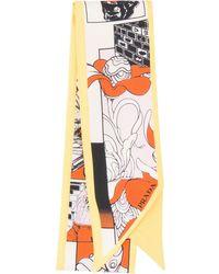 Prada Comics Print Scarf - Orange
