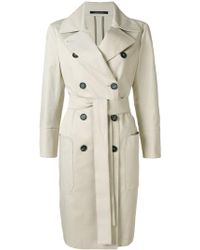 Tagliatore - Double-breasted Belted Trench Coat - Lyst