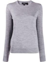 Theory Knitted Sweater - Gray