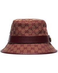Gucci Fédora à motif GG - Rouge