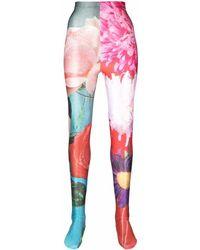 Chopova Lowena Legging à imprimé all-over - Rose