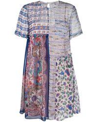 Liberty Dina Dahlia ドレス - ブルー
