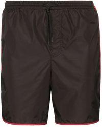 Gucci - Interlocking GG Stripe Swim Shorts - Lyst