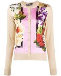 Dolce & Gabbana - Кардиган С Цветочным Принтом - Lyst