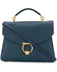 Ferragamo Bolso shopper Margot con asa superior - Azul