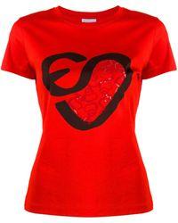 ESCADA ロゴ Tシャツ - レッド