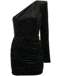 Alex Perry ワンショルダー ドレス - ブラック