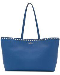 Valentino Sac cabas Garavani Rockstud - Bleu