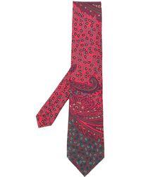 Etro Krawatte mit Paisley-Print - Rot