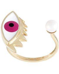 Delfina Delettrez 'eye Piercing' Ring - Pink