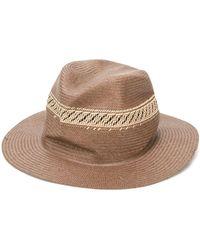 SuperDuper Hats Шляпа-федора Hobo - Коричневый