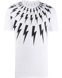 Neil Barrett Lightning Bolt T-shirt - White