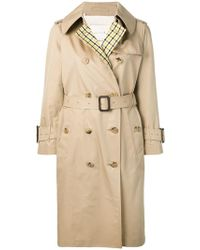 6b9ea3de9041ae Burberry Leather Detail Cotton Gabardine Trench Coat Honey in ...
