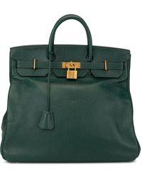 Hermès Borsa tote Haute A Courroies 40 - Verde