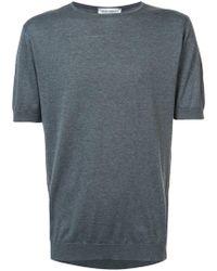 John Smedley - Short Sleeve T-shirt - Lyst