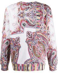 Etro Paisley-print Sweatshirt - White