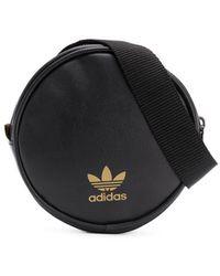 adidas ロゴ ベルトバッグ - ブラック