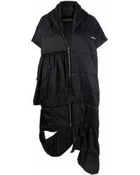 BARBARA BOLOGNA Abrigo acolchado con capucha - Negro
