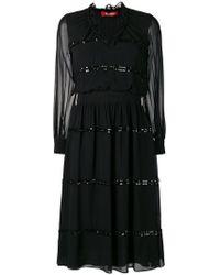 Max Mara Studio - Sheer Construction Dress - Lyst
