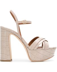 Malone Souliers Mila 125mm Platform Sandals - Grey