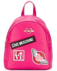 Love Moschino Rugtas Met Patch - Roze