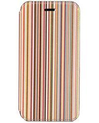 Paul Smith Coque pour iPhone 7/8 case à rayures - Jaune