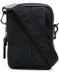 Moncler Jacquard Logo Shoulder Bag - Black