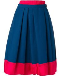 Marni Layered Midi Skirt - Blue