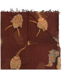 Uma Wang - Schal mit Masken-Print - Lyst
