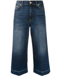7 For All Mankind Luxe Vintage クロップド ワイドジーンズ - ブルー