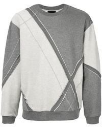 3.1 Phillip Lim Diamond Check Sweatshirt - Gray