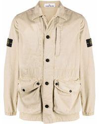 Stone Island Куртка-рубашка Tela - Естественный