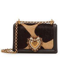 Dolce & Gabbana Bolso de hombro Devotion micro - Negro