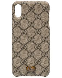 Gucci Coque d'iPhone XS Ophidia - Marron