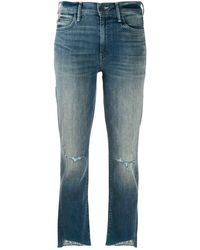 Mother Cropped-Jeans - Blau