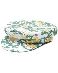 Manokhi - Camouflage Print Biker Cap - Lyst