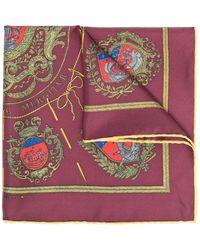 Hermès Carré de poche Les Armes de Paris pre-owned (années 2000) - Rouge