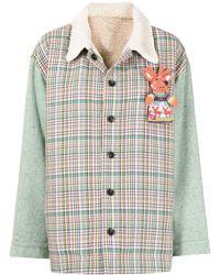 Mira Mikati Puppet Check-panelled Jacket - Green