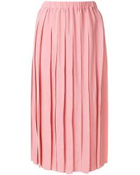 Sara Lanzi - Pleated Midi Skirt - Lyst