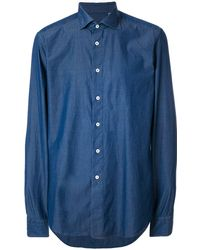 Dell'Oglio クラシック シャツ - ブルー