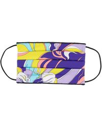 Emilio Pucci Abstract-pattern Face Mask - Multicolour