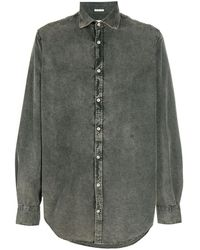 Massimo Alba - Джинсовая Рубашка Из Вареного Денима - Lyst
