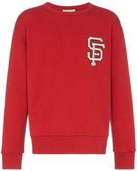 Gucci Sweater Met San Francisco Giants Logo - Rood