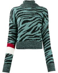 BROGNANO タイガー セーター - グリーン