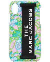 Marc Jacobs Coque d'iPhone XS à applique logo - Rose