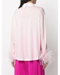 Styland フェザートリム シャツ - ピンク
