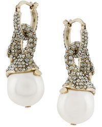 Lanvin - Crystal-embellished Swan Earrings - Lyst